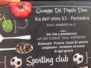 Country a Pontedera @ sporting club